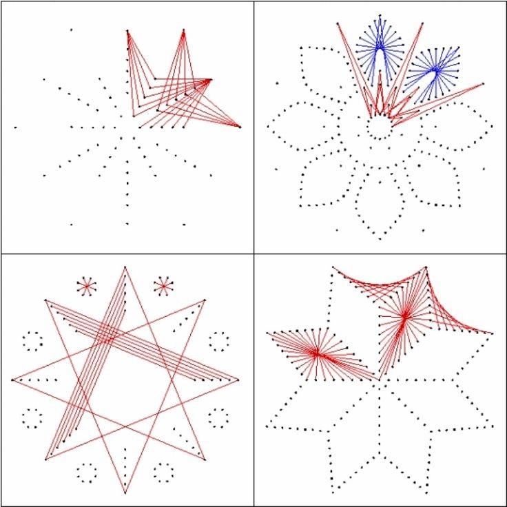 Схема для вышивки по картону цветов
