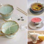 Фото 62: Как сделать свечи в чашке своими руками на 8 марта