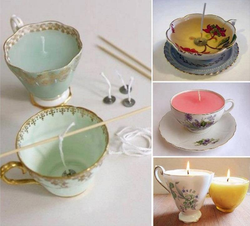 Как сделать свечи в чашке своими руками на 8 марта