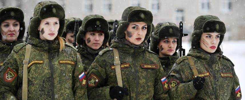 Девушки военные России