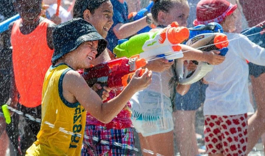 Война водными пистолетами на 23 февраля