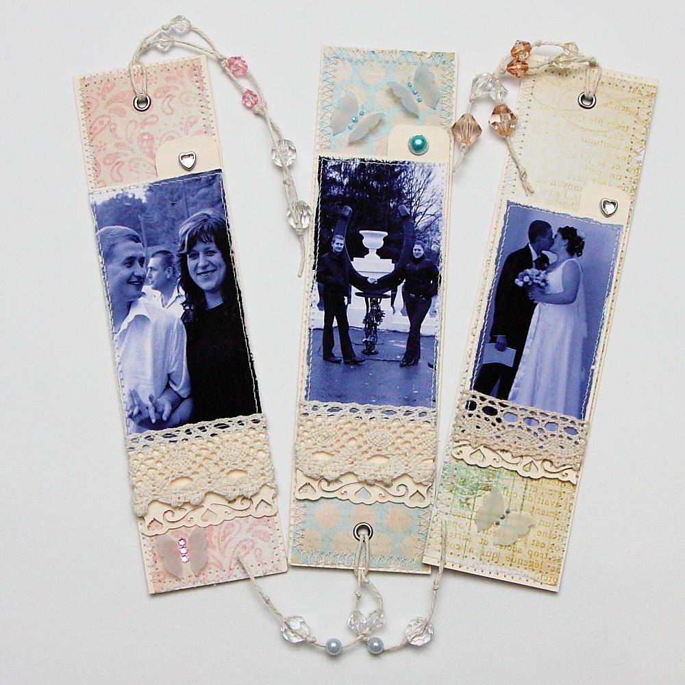 Закладки с фото для книг своими руками