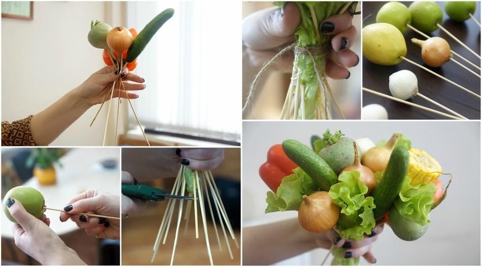 Как сделать букет из овощей своими руками