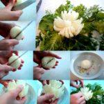 Фото 49: Цветы из репчатого лука своими руками