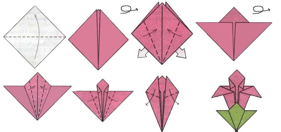 Сделать цветок оригами своими руками
