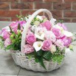 Фото 106: Композиция корзина цветов на 8 марта
