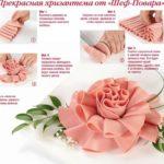 Фото 44: Нарезка цветы из колбасы своими руками