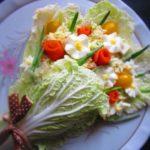Фото 39: Свежий салат букет на 8 марта
