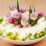 Фото 40: Весенний салат крокус на 8 марта своими руками