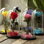 Фото 60: Вечные розы в колбах на 8 марта