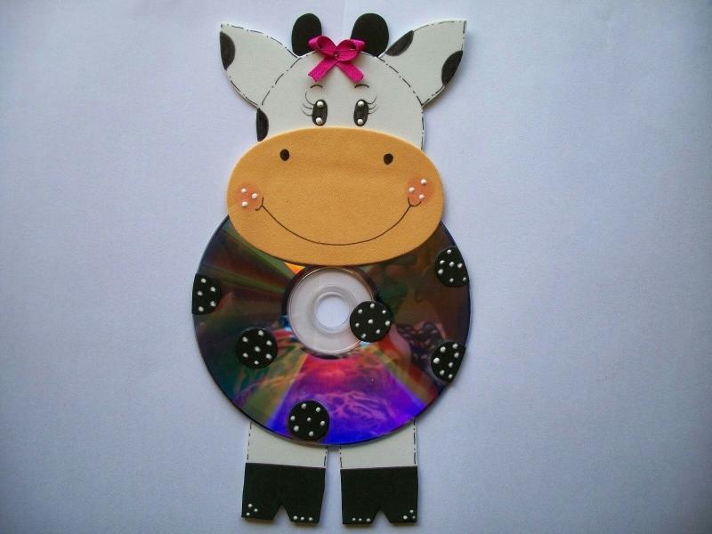 Корова из диска своими руками