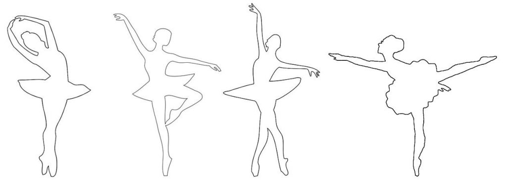 Балерины из бумаги