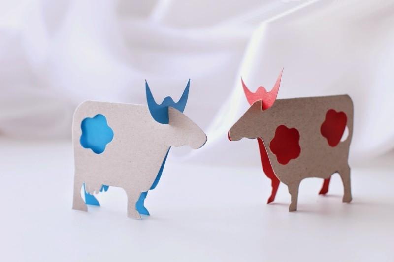 Открытки бычки своими руками