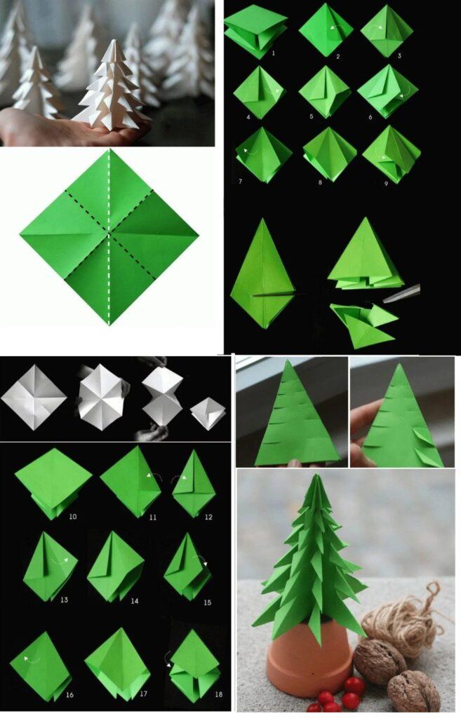 Елочка оригами своими руками