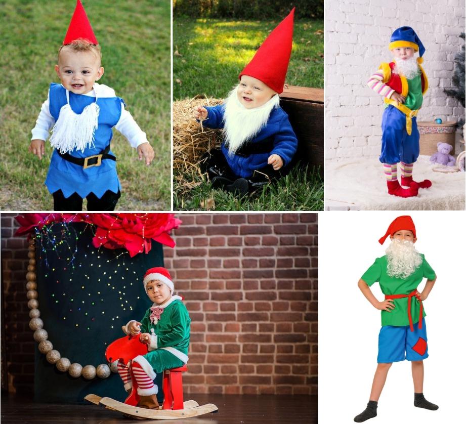 Новогодние костюмы гномов для мальчиков
