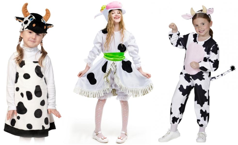 Новогодние костюмы коровы в Год Быка
