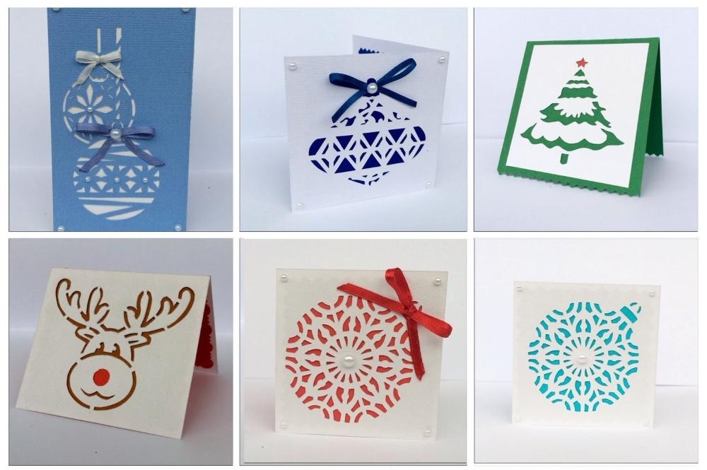 Новогодние открытки вытынанки