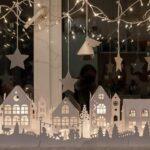 Фото 93: Новогодний декор окна из бумаги