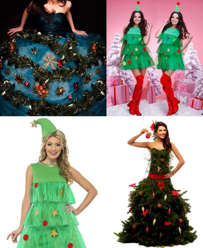 Платье елка варианты