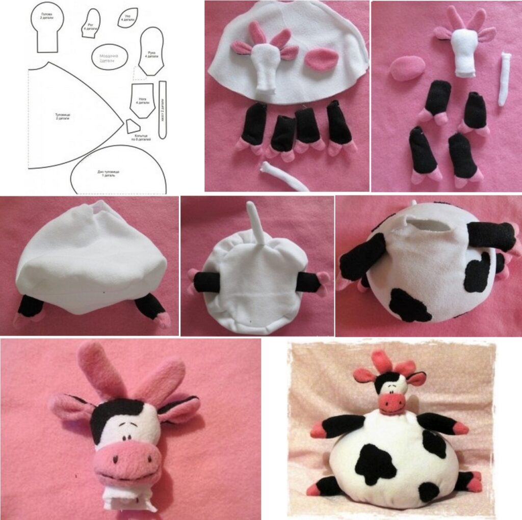 Подушка антистресс корова своими руками