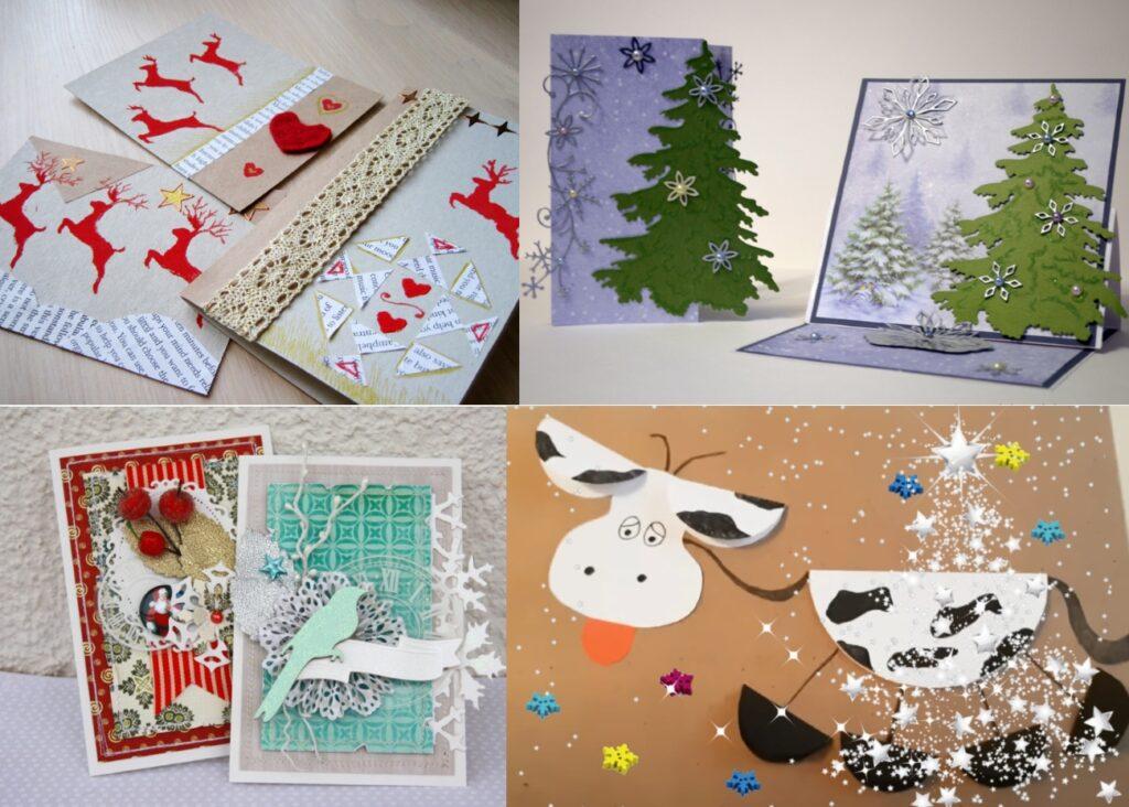 Скрап открытки на Новый Год своими руками