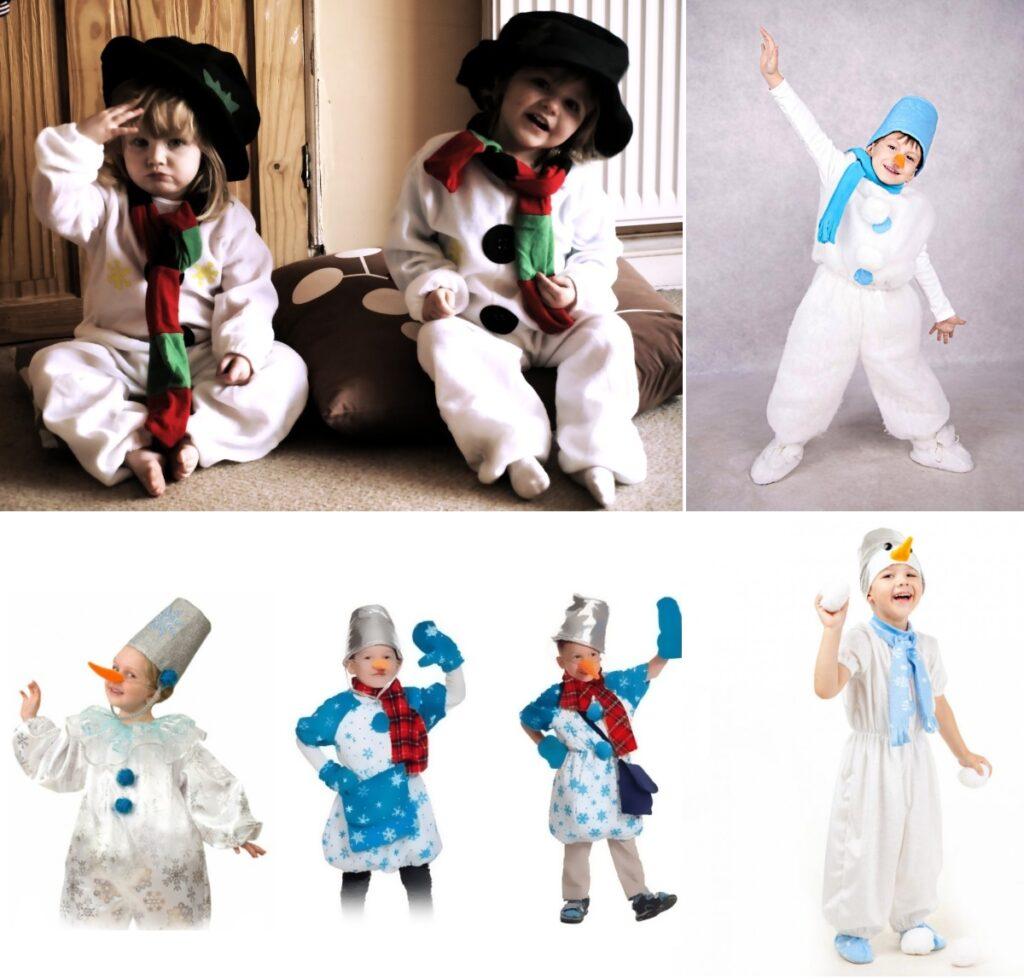 Костюм снеговика на Новый Год для мальчика варианты