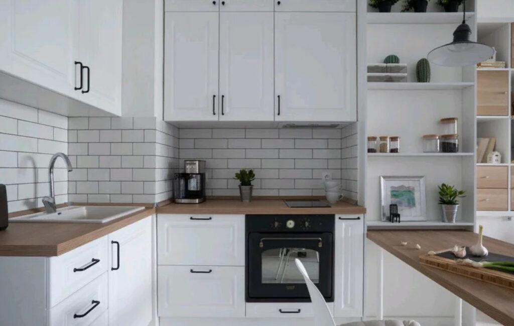 Кухонная зона в скандинавском стиле