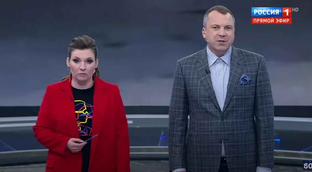 Попов и Скабеева в эфире