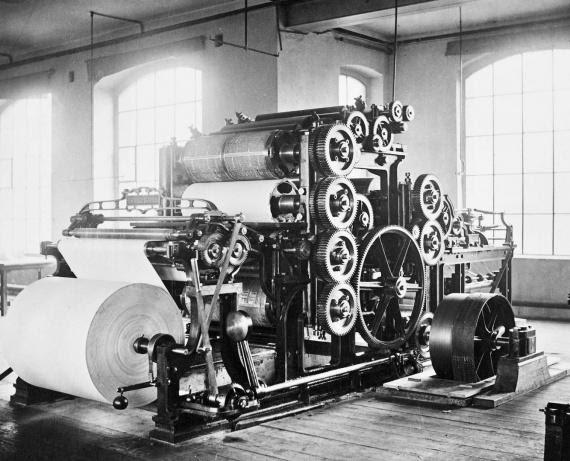 Печатный станок прошлого века