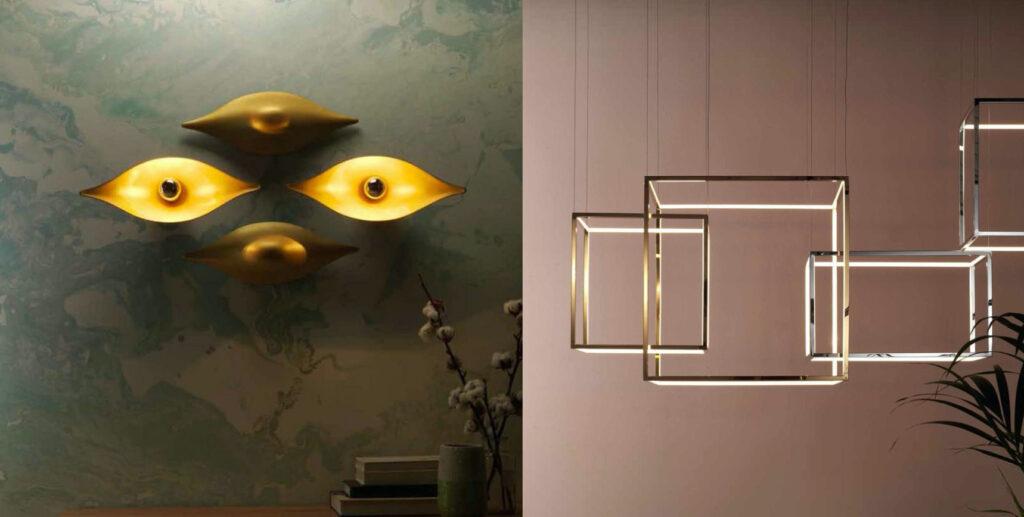 Из светильников Aromas del Campo можно сформировать панно или задать общую тональность интерьера