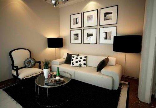 Планировка квадратной гостиной небольшого размера