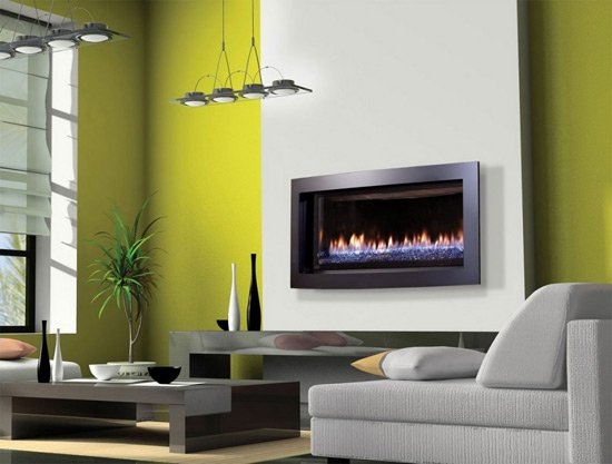 minimalist-modern-fireplace-ideas-green-wall-white-sofas-large-windows