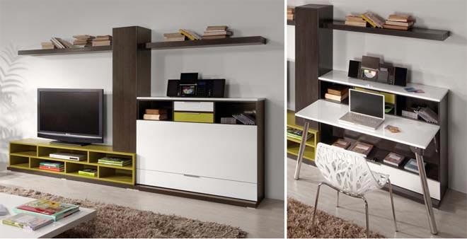 Компьютерный стол в гостиной ( фото).