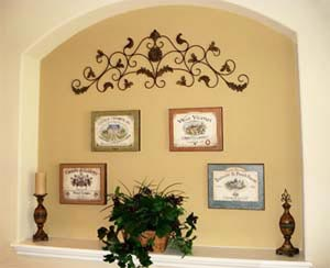 for How to decorate an alcove in a wall