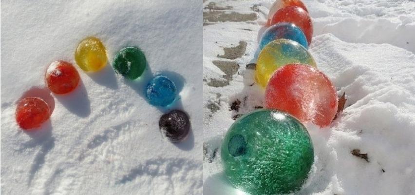 Ледяные цветные шары