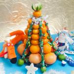Фото 34: Елочка из мандаринов и конфет