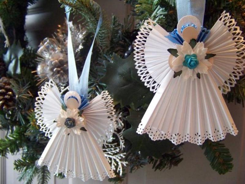 Ангелочки на елку своими руками из бумаги