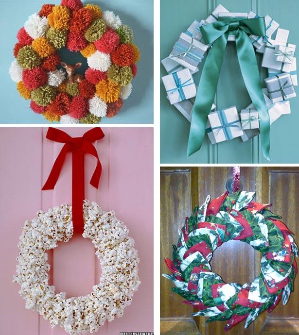 Рождественские венки своими руками идеи