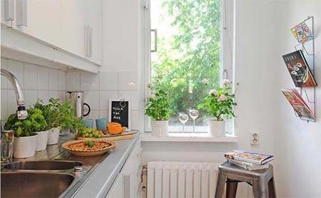 Дизайн узкой маленькой кухни