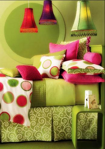 зеленая-с-красным-спальня(Ф)