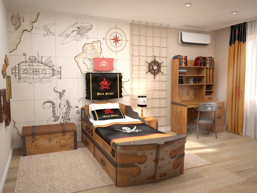 Детская комната в стиле острова сокровищ