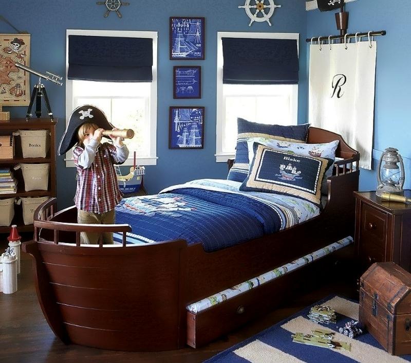 Детская комната для мальчика в пиратском стиле