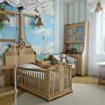 Фото 17: Песочная и бело-голубая гамма цветов для создания морского дизайна