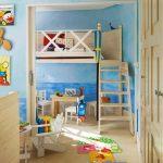 Фото 23: Имитация пляжа в детской комнате