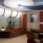 Фото 27: Подвесной потолок для комнаты в морском стиле