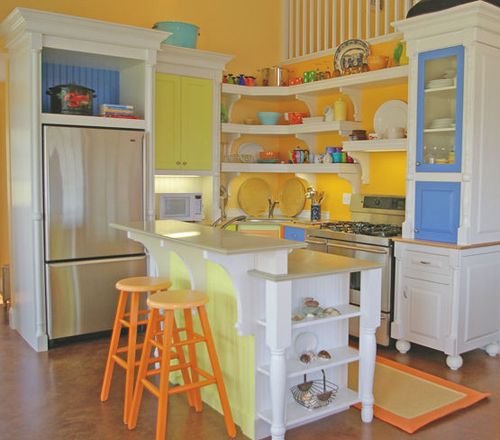 пастельные тона в интерьере кухни в современном стиле