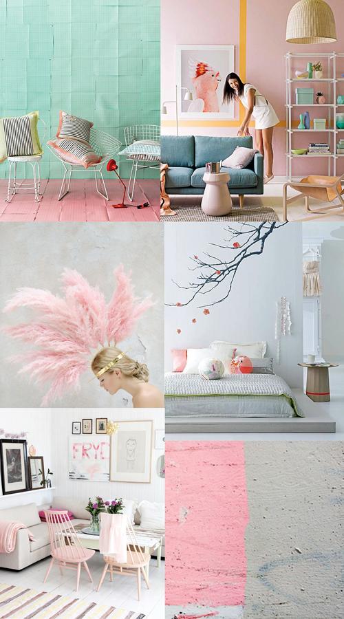 Аксессуары для интерьера в пастельных тонах