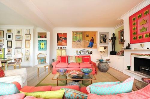 Разноцветный интерьер в пастельных тонах
