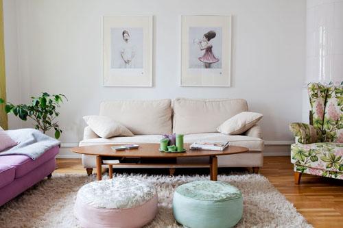 Сочетание пастельных цветов с белым