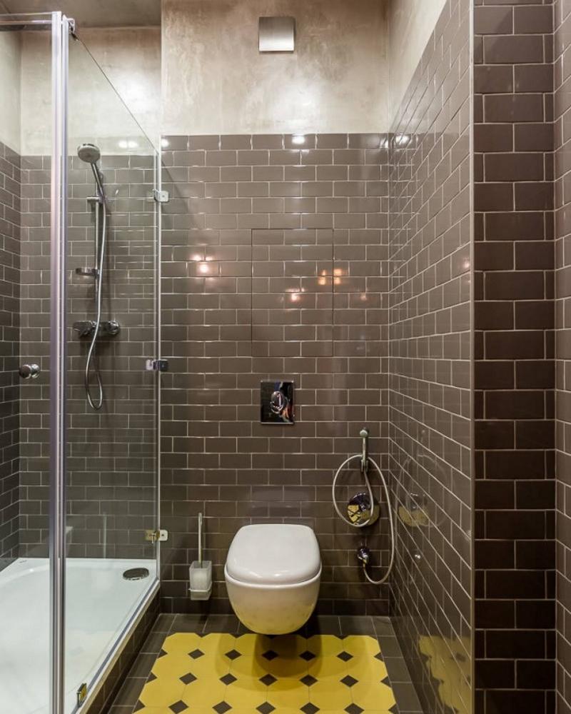 Дизайн душевой в узкой ванной